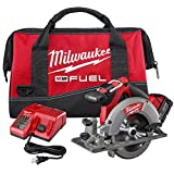Milwaukee 2730-21 M18 Fuel 6 1/2 Circ Saw 1 Bat Kit (Color: Black, Red, Stainless)