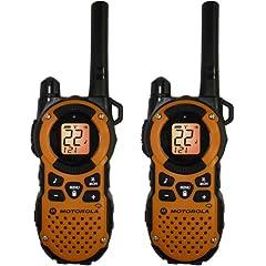 Motorola MT350R FRS Weatherproof Two-Way - 35 Mile Radio Pack - Orange by Motorola