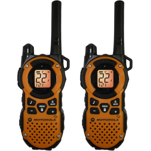 Best Price! Motorola MT350R FRS Weatherproof Two-Way - 35 Mile Radio Pack - Orange