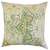 The Pillow Collection P18-PT-TIMURI-SEAHORSE-L100 Havilah Floral Pillow, Seahorse