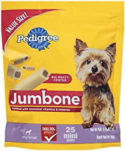 Pedigree Jumbone Mini Snack Treats for Dogs, 15.87-Ounce (Pack of 4)