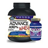Advance 100% Whey Protein 2kg Vanilla & Advance BCAA 100gm Unflavoured Combo Offer