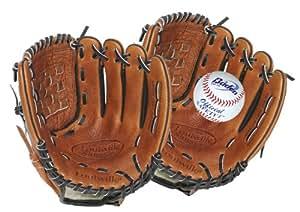 Louisville Slugger Gants + balle pour receveur de baseball Junior Cuir/noir/blanc 27 cm