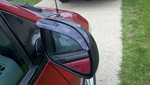 Black Smoke Mirror Visor Rain Guards Smoked (2014 Accord Rain Guards compare prices)