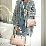 Bagoddess Multiple Shopper Winter Elegent Three-Pieces Women Purse Shoulder Bag Tote Handbag(C1)
