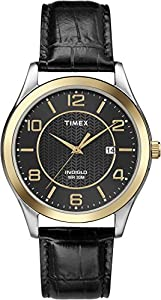 Timex Men's T2P4509J Main Street Dress Analog Display Analog Quartz Black Watch
