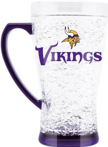 Nfl Minnesota Vikings Lfm115 Crystal Flared Mug, 16-Ounce