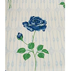 Blue Rose Flower Vinyl Shower Curtain