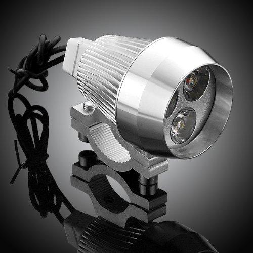 "1X Custom Design Billet Aluminum Chrome Plated Super Bright Cool White Led Foglight Fog Lamp 7/8"" 1"" Handlebar Mounting Clamp Kit For Harley Indian Chief Victory Cruiser Touring Chopper Bobber Café Racer"