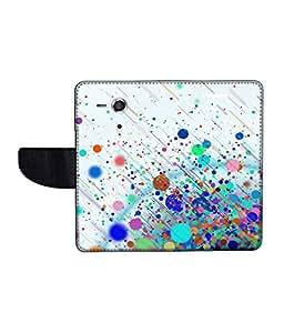 KolorEdge Printed Flip Cover For Sony Xperia SP Multicolor -(45KeMLogo12339XperiaSP)