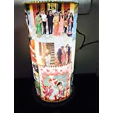 """Craft N Creation Personalize 14"""" Inch Rotating Lamp Shades/ Revolving Photo Lamp For Mother's Day, Gift For Mom, Gift For Him, Gift For Her, Gift For Boyfriend, Gift For Girlfriend, Gift For Husband, Gift For Wife, Anniversary/Birthday Personalize Gi"""