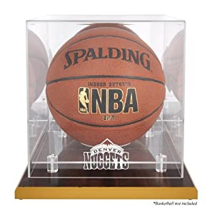 NBA Logo Basketball Display Case NBA Team: Denver Nuggets, Base Type: Composite Wood by Sports Memorabilia