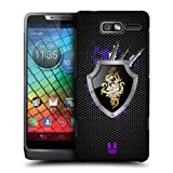 Head Case Virgo Metal Zodiac Design Back Case Cover For Motorola RAZR i XT890