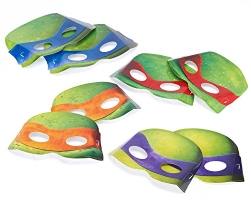 American Greetings Teenage Mutant Ninja Turtles Party Hats/ Masks (8 Count) - 1