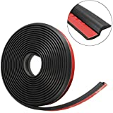 MATCC 13Ft(4M) Car Door Rubber Seal Z Shape Trim Seal Door Edge Guards Weatherstrip Hollow for Car Truck Motor Protector