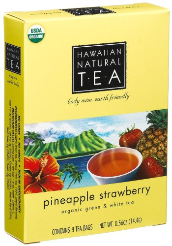 Buy Hawaiian Natural Tea Pineapple Strawberry Green and White Tea Blend, 8-count, .56-Ounce Boxes (Pack of 12) (Hawaiian Natural Tea, Health & Personal Care, Products, Food & Snacks, Beverages, Tea, Black Teas)
