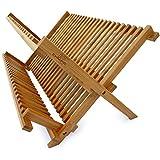 "Culina Bamboo Dish Rack, Fold-able, Compact Fold size 18""x 11"""
