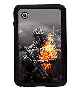 printtech Battlefield Soldier Fire Back Case Cover for Samsung Galaxy Tab 2 7.0 P3100 , Samsung Galaxy Tab 2 (7.0)