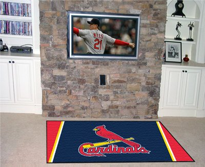 ST Louis Cardinals 5' x 8' Area Rugs
