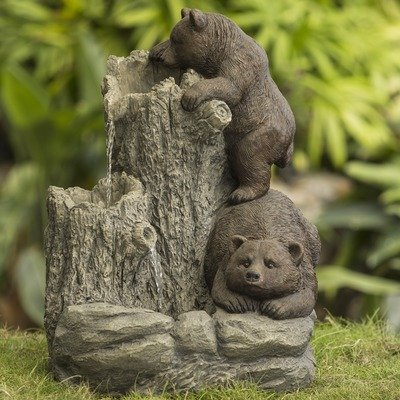Jeco Bears Indoor/Outdoor fountain (Bear Fountain compare prices)