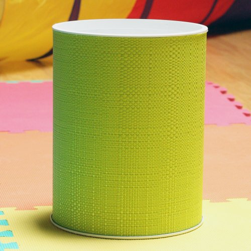 Lamont Home Brights Round Wastebasket, Lime - 1