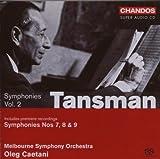 echange, troc  - Alexandre Tansman : Symphonies n°7, 8 et 9 - vol.2