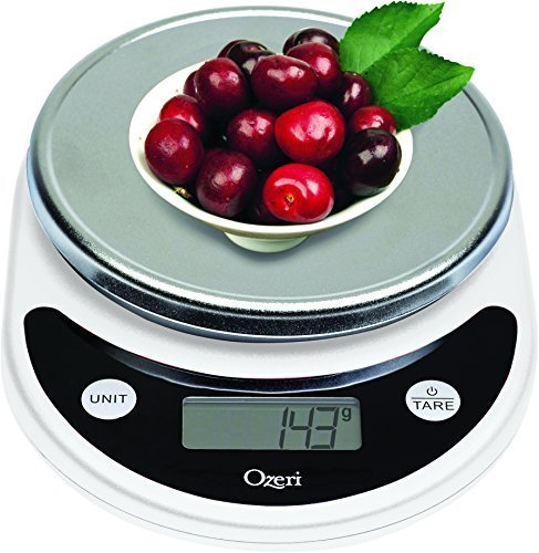 Ozeri Pronto Digital Multifunction Kitchen and Food Scale, in White by Ozeri