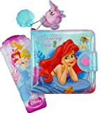 Wallet Accessory Gift for Girl Kids Disney Fairytale Wallet Princess Stars the Little Mermaid Coin Purse Pocket Billfold Wallet for Girl Toy