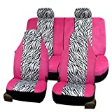 512ot%2BAJRNL. SL160  FH FB121114 Zebra Prints Car Seat Covers, Airbag ready and Split Bench, Pink / White color