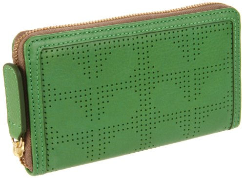 Orla Kiely Women's Perforated Stem Big Zip Wallet Purse