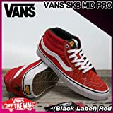 VANS(バンズ) スケート ミッド プロ SK8-MID PRO (Black Label) Red/メンズ(men's) 靴 スニーカー(VN-0SJJ9SY)