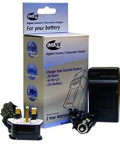 Inov001 batterie de rechange pour appareil numérique et kit de chargement pour Panasonic CGA-S001/DMW-BCA7 (Import Royaume Uni)