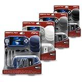 Pack PSP slim - Sacoche + écran de protection + coque de protection + câble usb + casque stéréo  + 3 boîtes de rangement umd + dragonne .