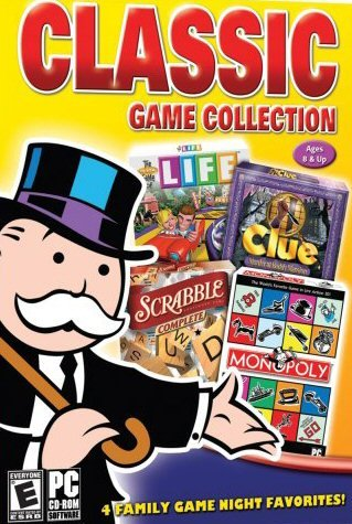 Classic Hasbro Games: Monopoly, Scrabble Complete, Game of Life & Clue - Murder at Boddy Mansion