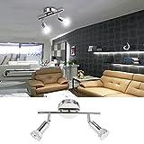 Homdox LED Spotleuchte 2-flammig Deckenleuchte Deckenbalken LED Deckenspot Deckenstrahler
