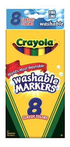 Crayola 8Ct Washable Markers Fine front-465789
