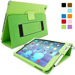 Snugg™ - Étui Pour iPad Air (iPad 5) - Smart Case Avec Support Pied Et Une Garantie à Vie (En Cuir Vert) Pour Apple iPad Air