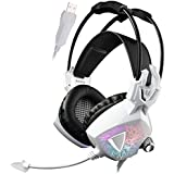 Sades SA913 USB Gaming Headset Vibration, Wired Over Ear PC Headphones With Microphone Volume Control Noise Reduction...