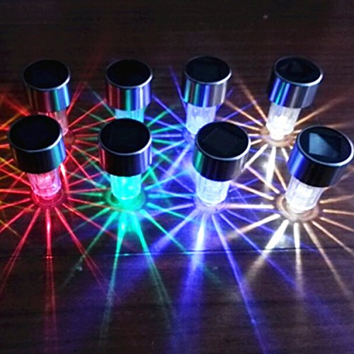 ... 8Pack 4Color Stainless Steel Outdoor Solar Lights For  ...