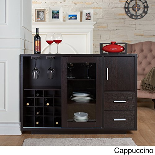 Furniture of America Julienne Modern Sliding Door Wine Bar Dining Server (cappuccino) (Wine Servers compare prices)