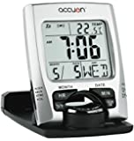Accuon Ultra Slim Travel Alarm Clock with Calendar & Temperature