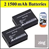 2 Pack Of NP-W126 Batteries For Fujifilm FinePix HS30EXR Digital Camera Includes NPW126 Battery + LCD Screen Protectors...