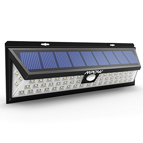 Luce Solare Mpow di 54 LED, Lampada Wireless ad Energia Solare da Esterno Impermeabile con Sensore di Movimento, Luci Solari da Esterni con 54 Lampadine LED, 3 Modalità Funzione, per Parete, Muro, Giardino, Terrazzino, Cortile, Casa, Corraio ecc