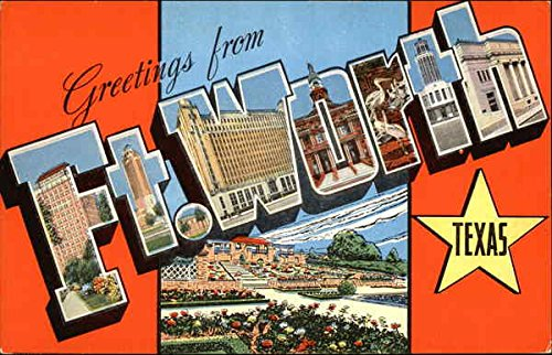 Greetings-from-Fort-Worth-Fort-Worth-Texas-Original-Vintage-Postcard