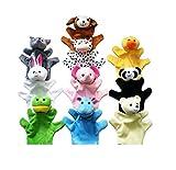 niceeshop(TM) Cute Animal Hand Puppets Toys Set for Kids Children, Set of 10