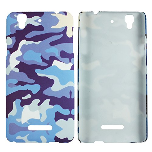 Heartly Army Style Retro Color Armor Hybrid Hard Bumper Back Case Cover For Micromax Yu Yureka Cyanogenmod - Navy Blue