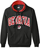 NCAA Men's Georgia Bulldogs Hooded Sweatshirt (Black, XX-Large)