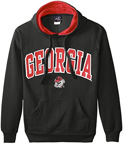 NCAA Men's Georgia Bulldogs Hooded Sweatshirt (Black, Large) (Georgia Bulldogs Mens Hoodie compare prices)
