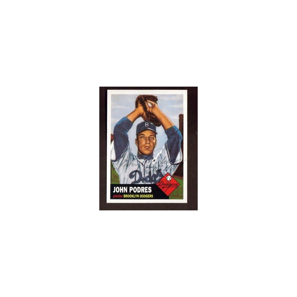 1995 TOPPS ARCHIVES #263 JOHNNY PODRES DODGERS AUTO SIGNED CARD JSA STAMP BK