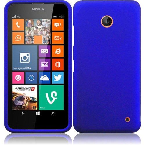 Nokia Lumia 635, EpicDealz (Blue) Slim Grip Snap-On Rubberized Hard Plastic Cover Case For Nokia Lumia 635 (Boost Mobile, Metro PCS, T-Mobile, Virgin Mobile) + Mini Stylus Pen + Case Opener (Nokia Lumia 635 Boost Mobile compare prices)